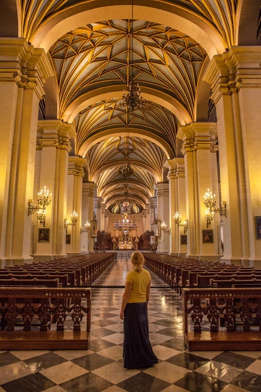 visit the lima cathedral