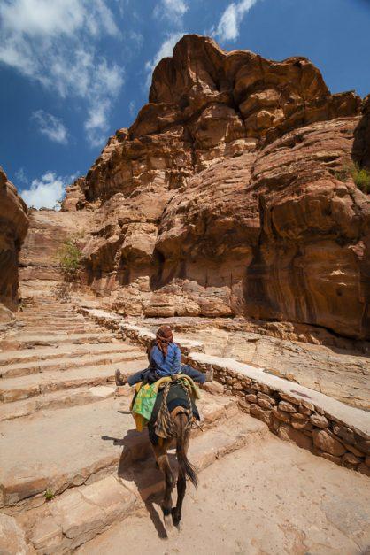 Passerelle vers les hauts points de vue de Petra