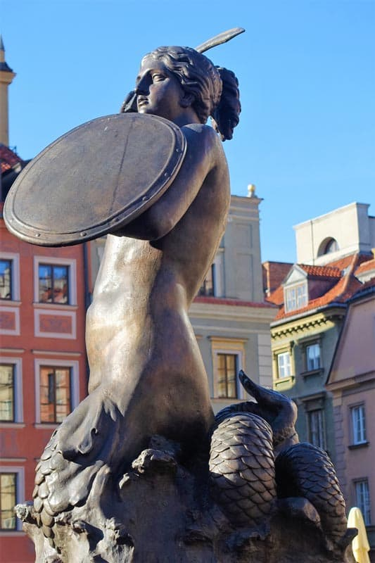 warsaw mermaid things to see in Poland