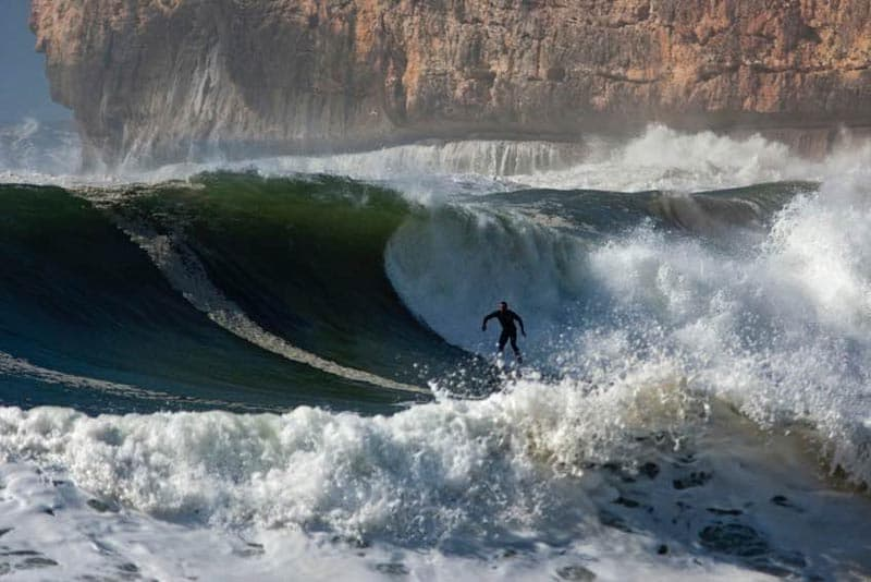 Places to visit in Portugal - Nazare for surfing
