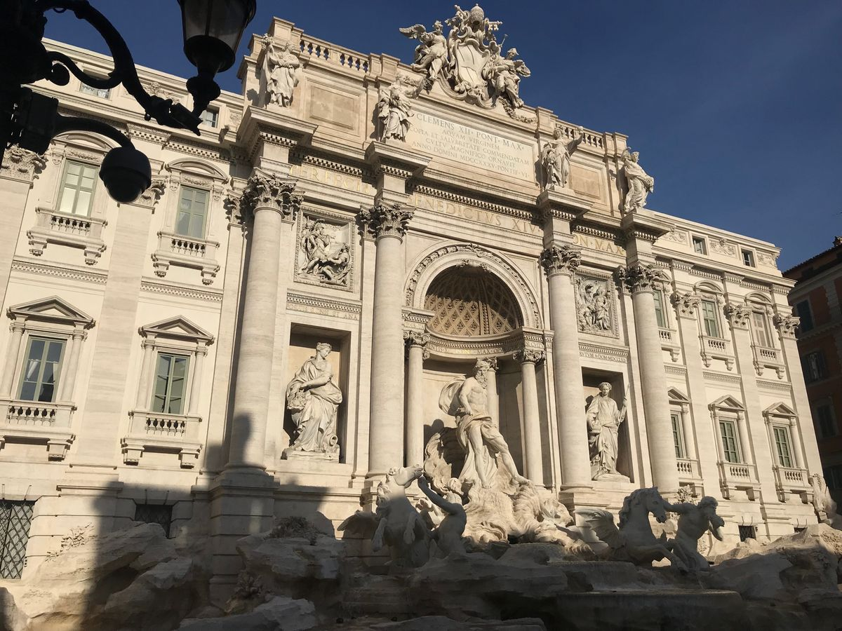 The Beautiful Trevi Fountain in Rome