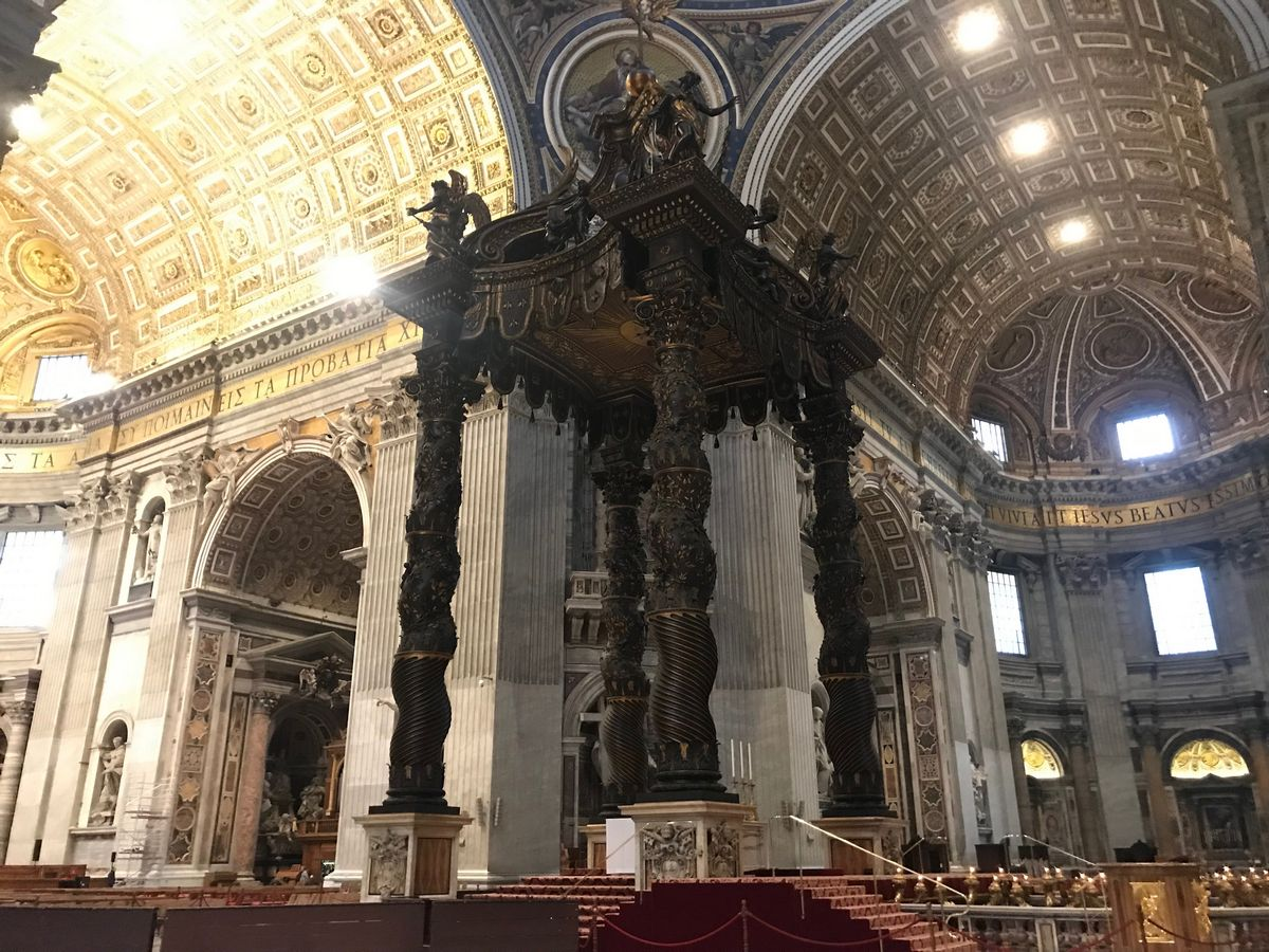 Inside St Peter's Basilica is something you should do in Rome