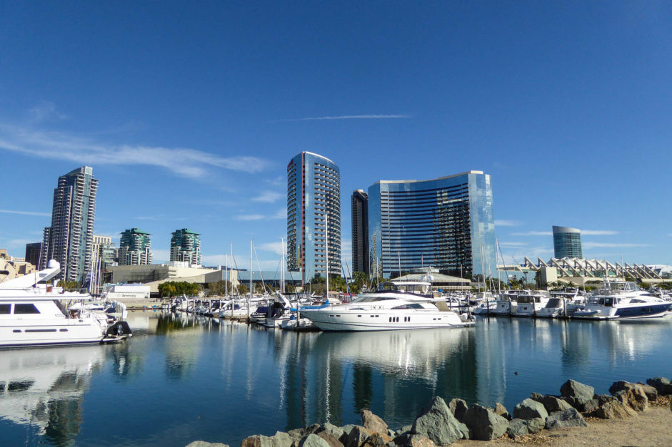 things to do in san diego - harbour and skyline