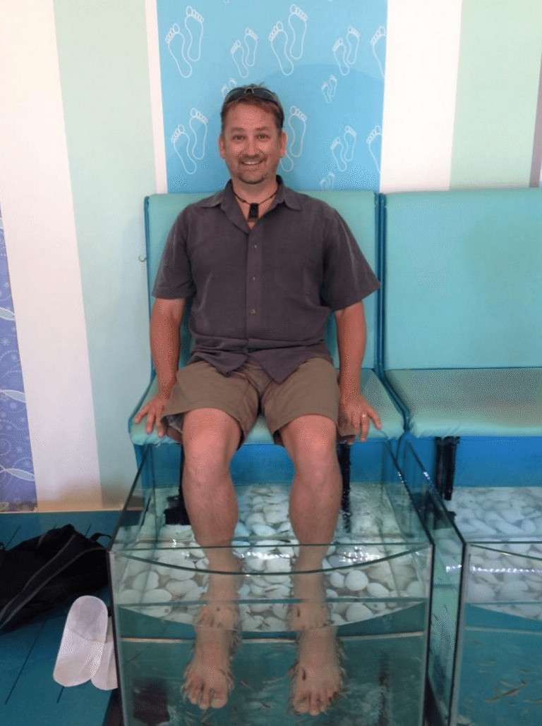 unique things to try in santorini fish pedicure