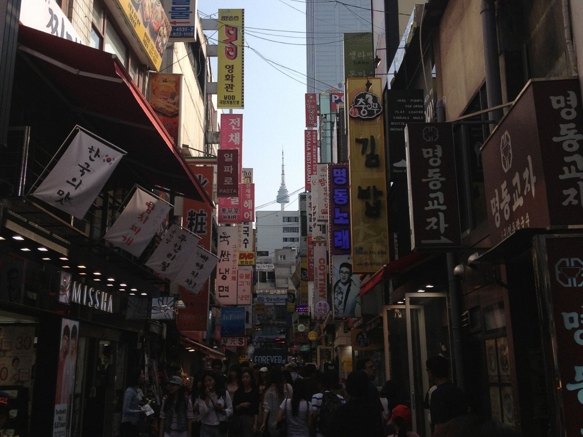Shopping in Myeongdong things to do in Seoul South Korea
