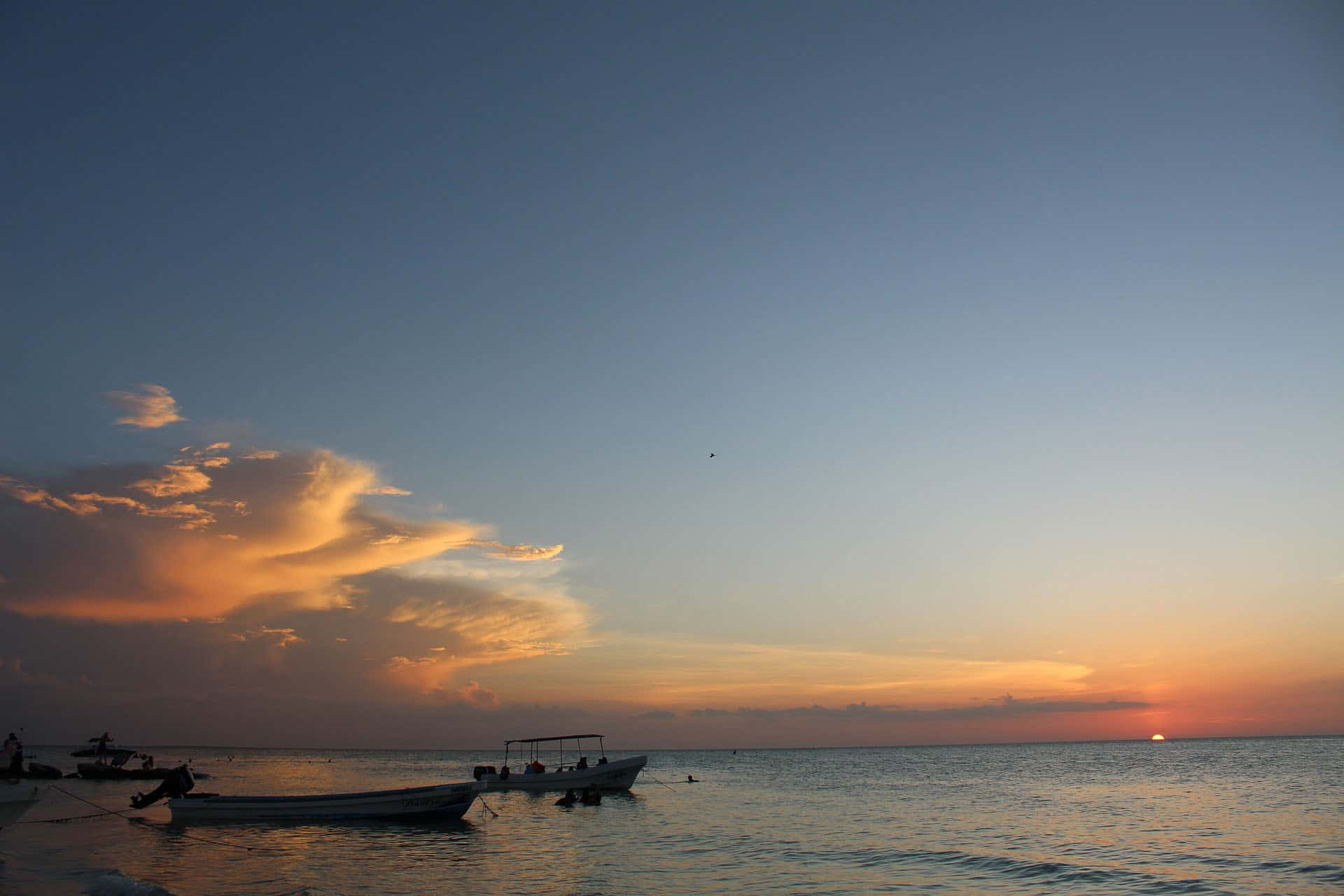 holbox mexico at sunset