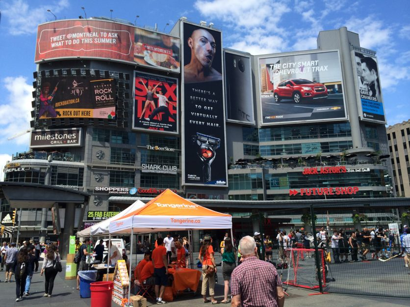 places to go in toronto yonge and dundas square