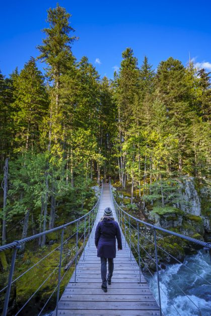 hiking whistler suspension bridge