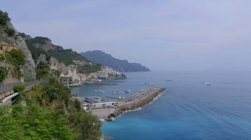 amalfi town lookout from Amalfi Coast