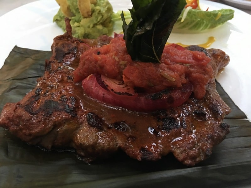 things to do on the Yucatan Peninsula Mexico steak dinner