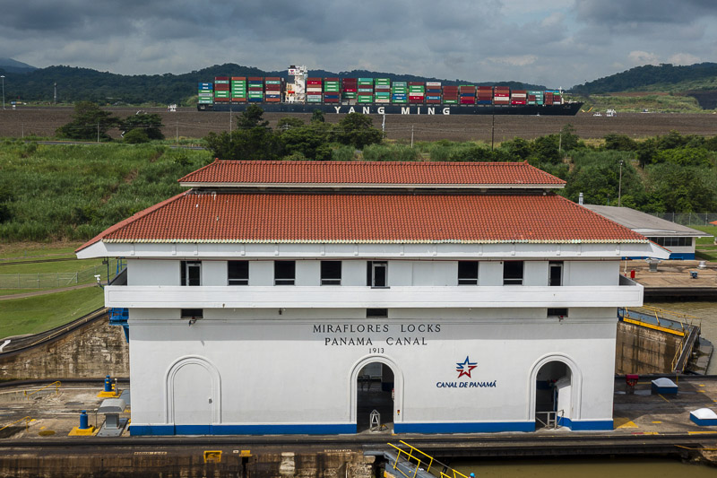 The Mia Flores Locks at the Panama Canal