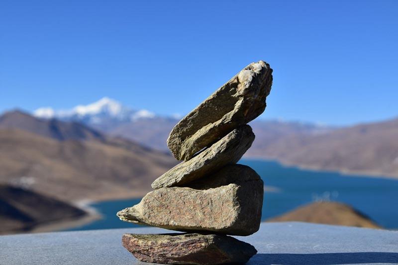 Visit Tibet | rock marker