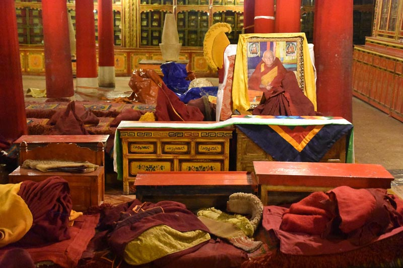 inside tibetan monastery