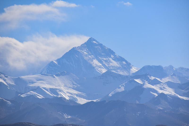 mount everest from tibet Base Camp