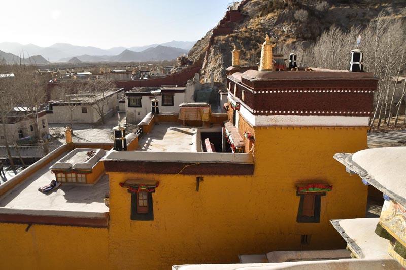 Pelkor Monaster in Gyantse Tibetan mountains