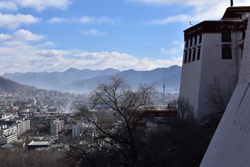 Lhasa Tibet view from Potala Palace