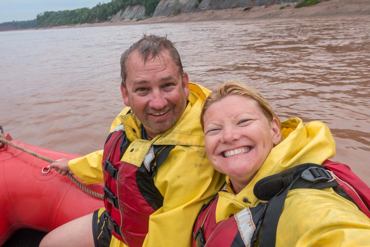 rafting nova scotia's tidal bore dave and deb