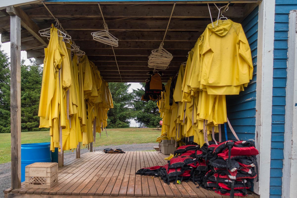 rafting bay of fundy rain suits