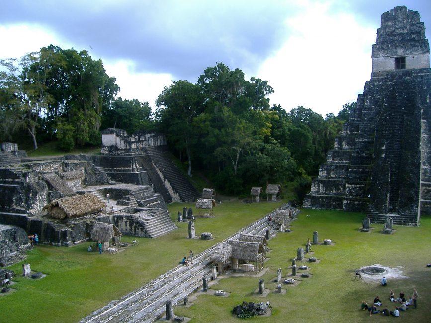 Tikal temples in Guatamala