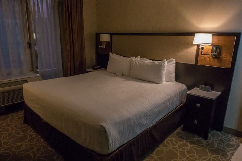 times square hotels bed