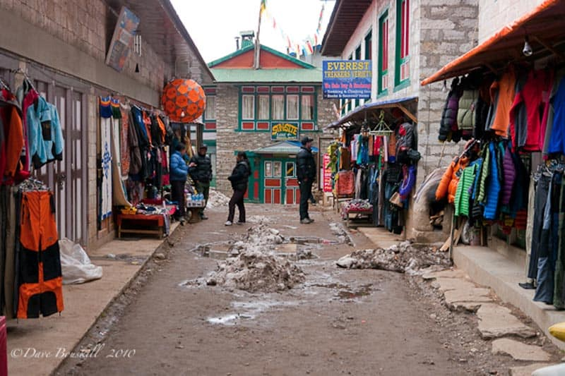 shopping at namche bazaar base camp trekking tips