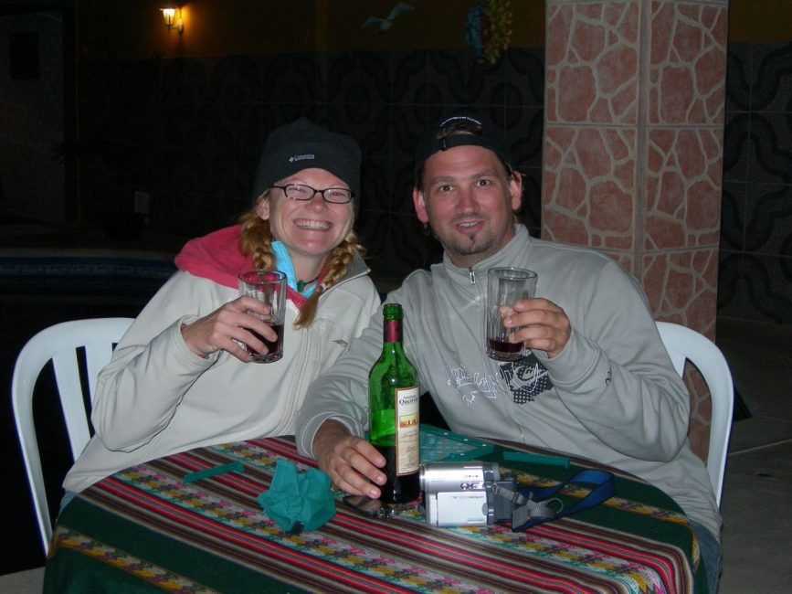 Couple Toasting Bucket List in Peru