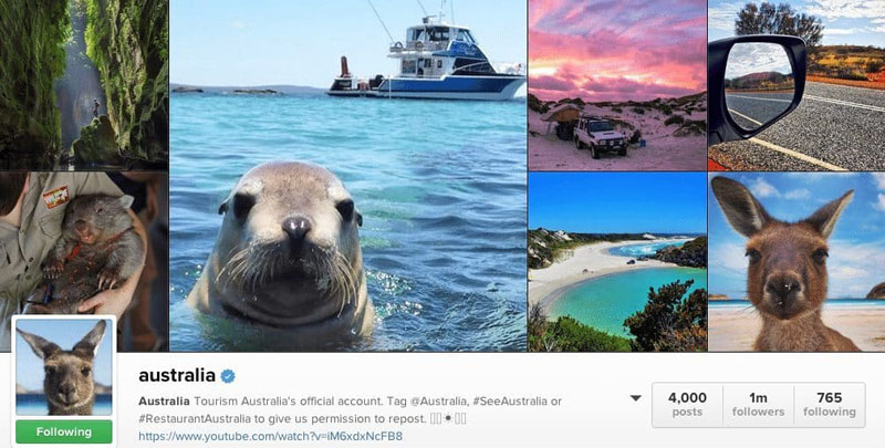top instagrammers to follow australia