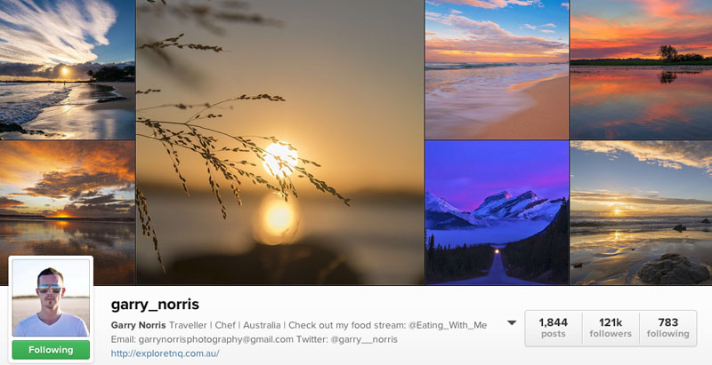 top instagrammers to follow garry norris