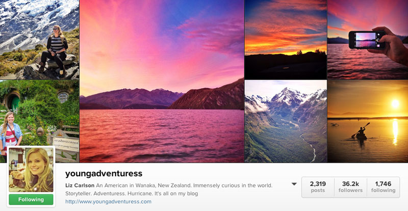 young adventuress instagram