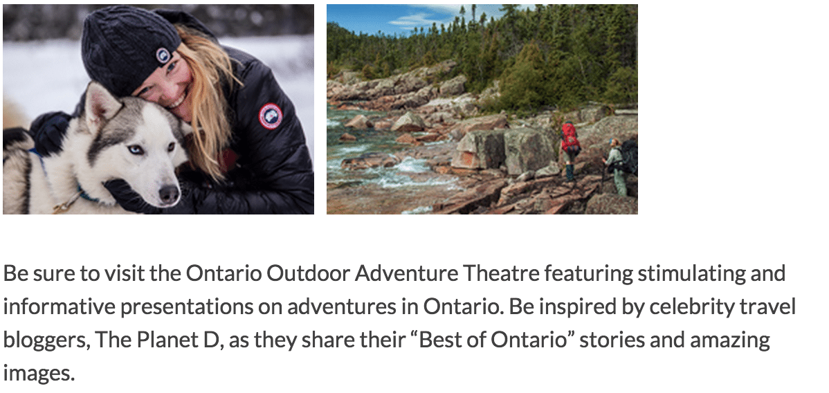 Speaking at the Toronto Outdoor Adventure Show
