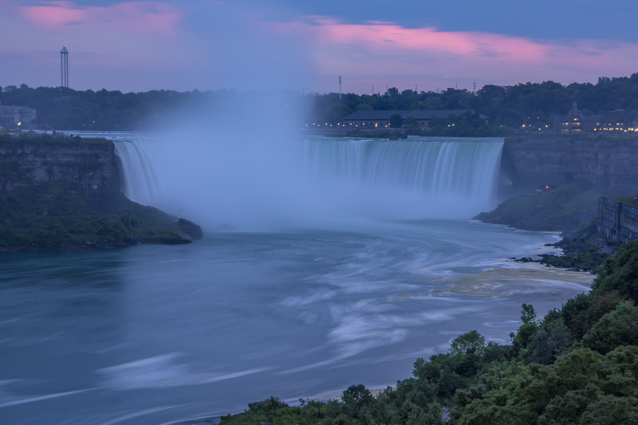 Toronto to Niagara Falls sunset