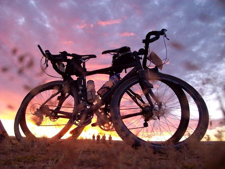 cycling africa ethiopia sunset