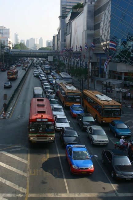 Traffic at MBK Centre and Siam Square, Bangkok