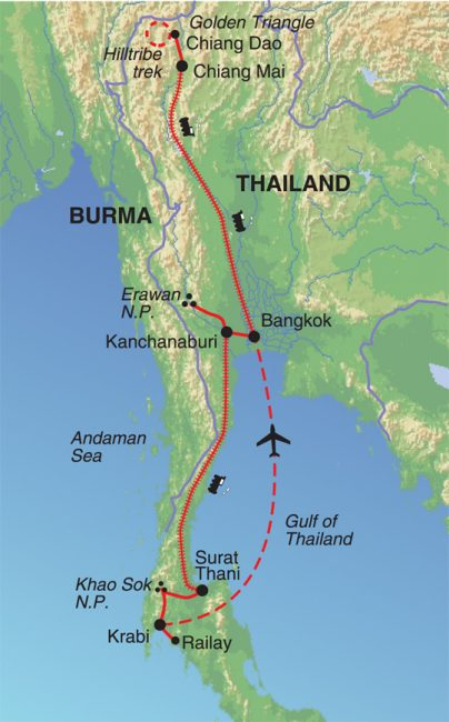 travel thailand by train