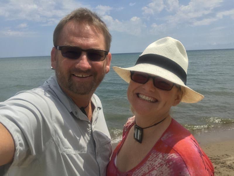 adaptive lenses dave and deb at beach