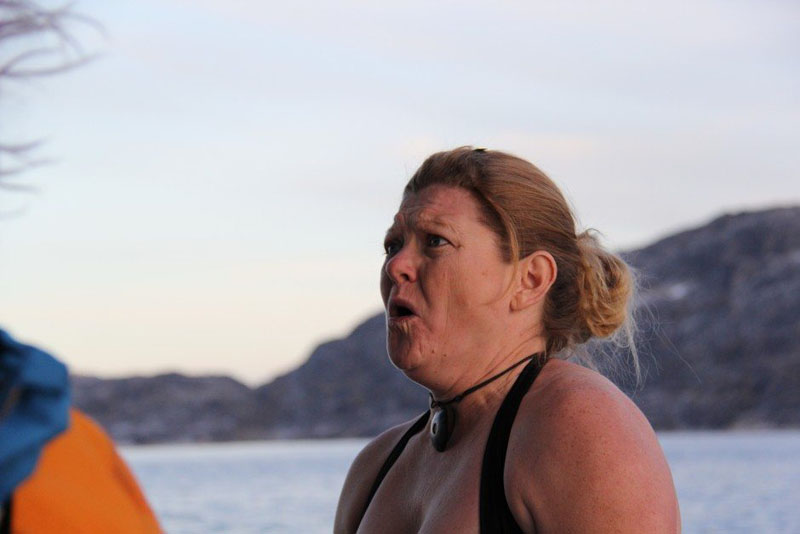 Deb had axiety over the Polar Plunge