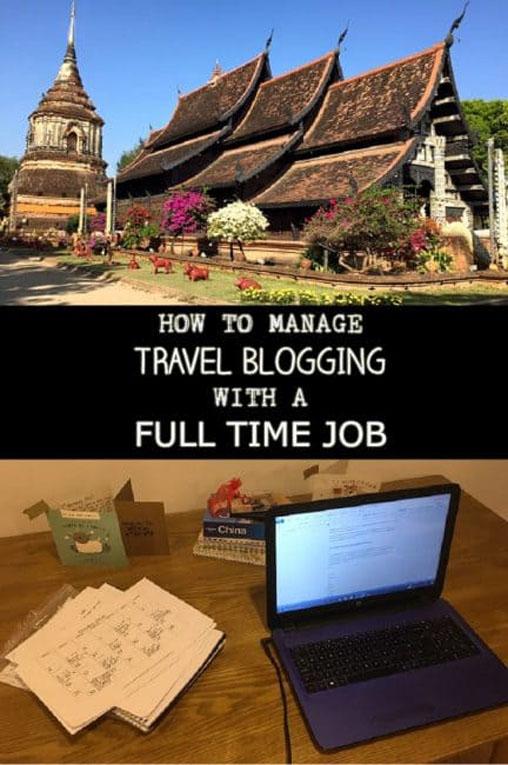 travel blogging full time job pin