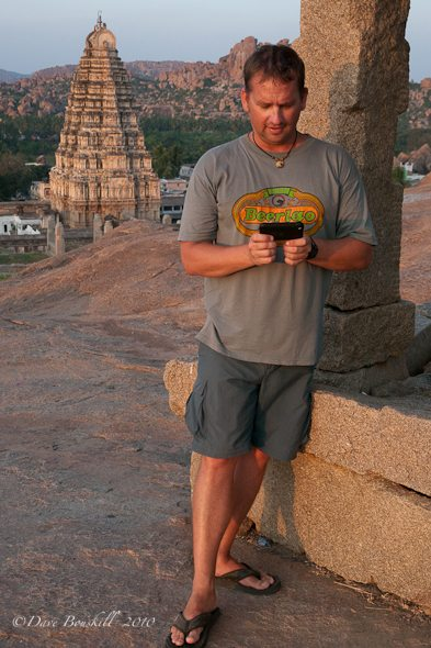 updating travel blog from the Hampi Ruins