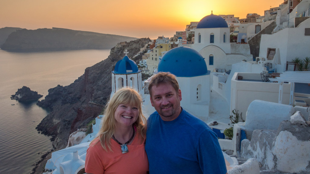 realizing our travel dream by saving money in Santorini