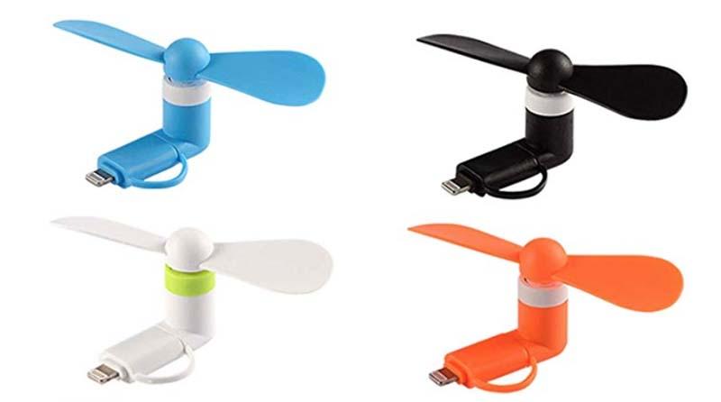 weird travel gadgets | cell phone hand fan