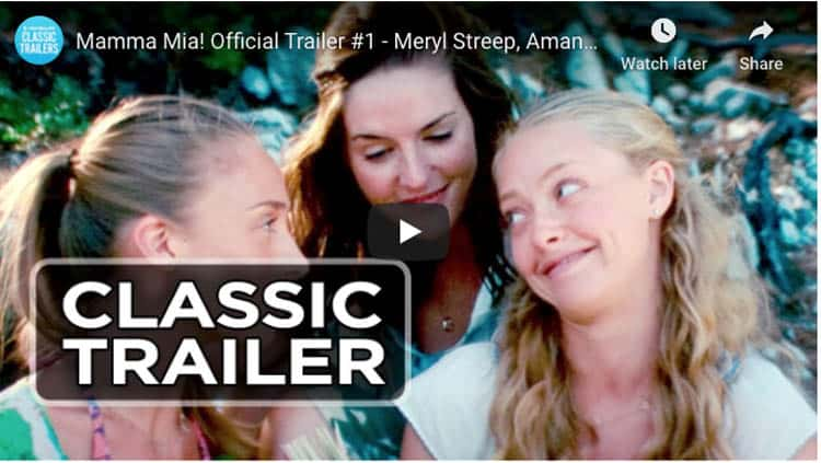 movies about travel in greece. | mama mia