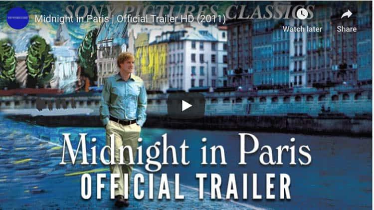 fantasy movies to inspire travel | midnight in paris