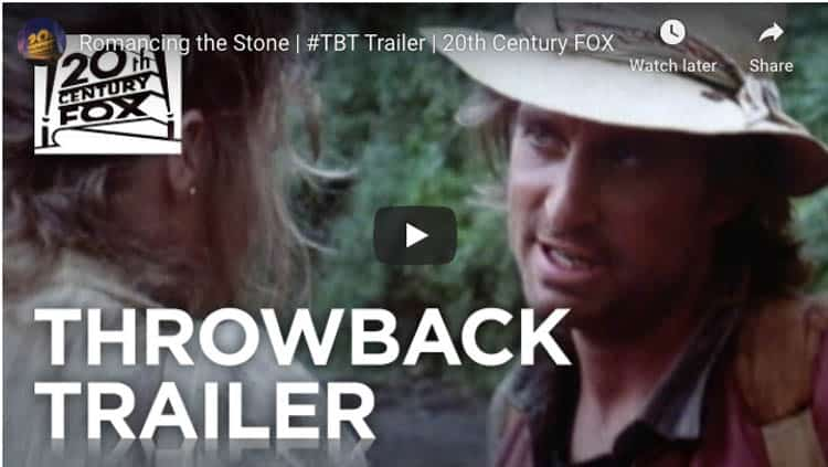 fun movie about travel | romancing the stone