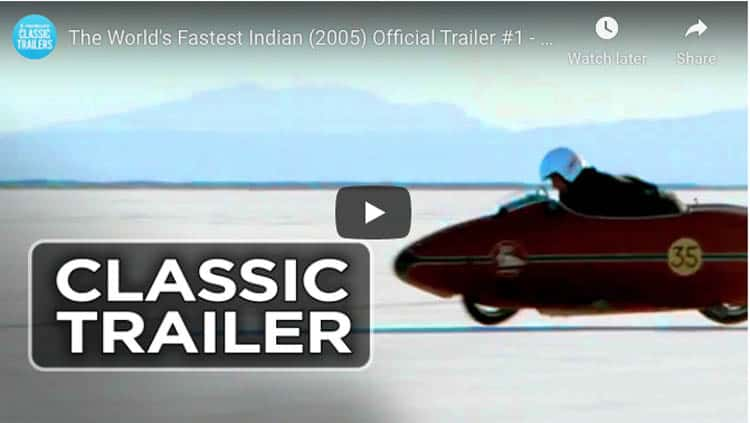 best motorcycle movies   worlds fastest indian