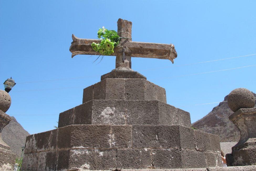 mexico photo a cemetery cross