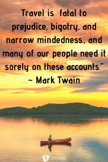 Mark twain traveling Quote