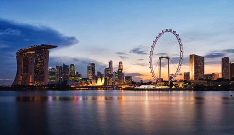 travel to singapore skyline