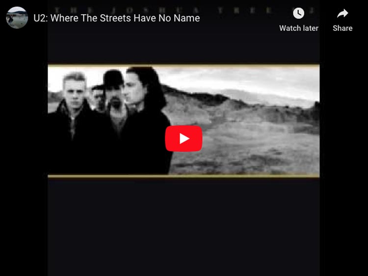songs about traveling | Streets have no name