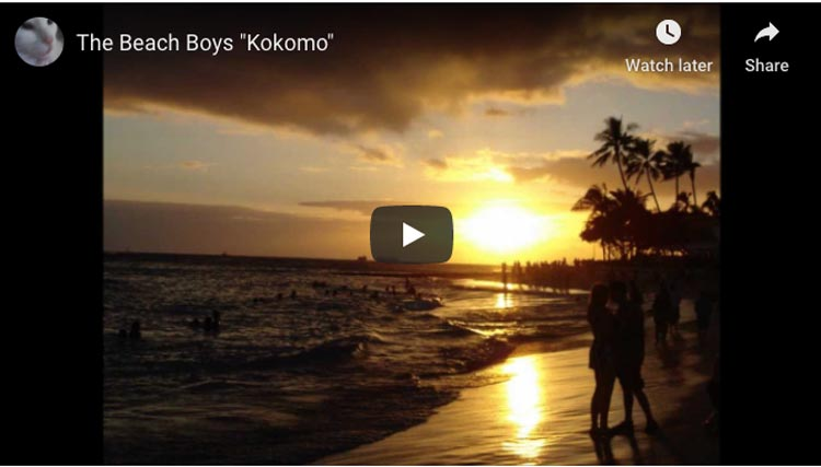 songs to inspire people to travel | kokomo