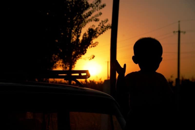 travel uzbekistan sunset